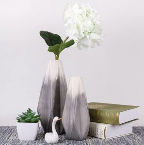 Geometric Two Toned Vase