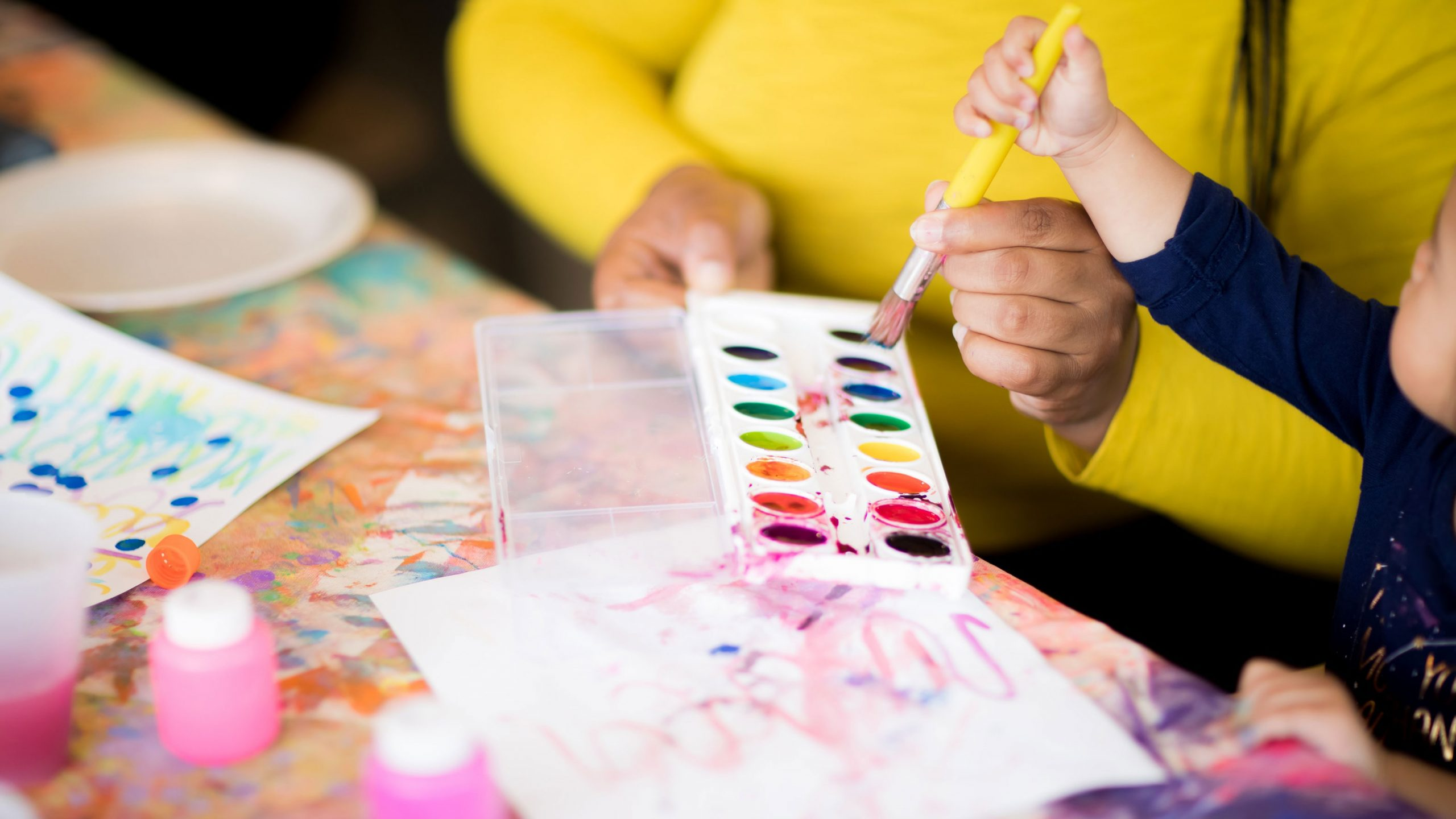 creative ways to display kids artwork, child painting
