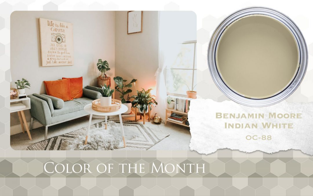Color of the Month Benjamin Moore Indian White