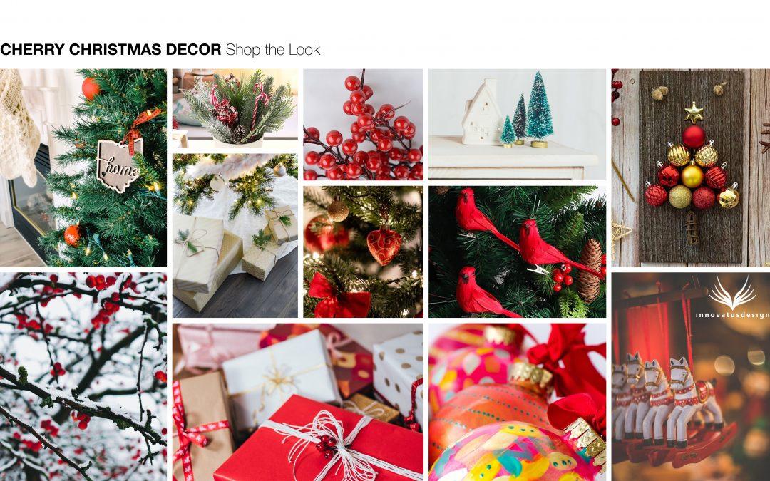 Cherry Christmas Decor Shop the Look