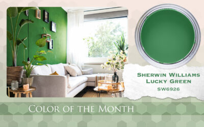 Color of the Month Sherwin Williams Lucky Green