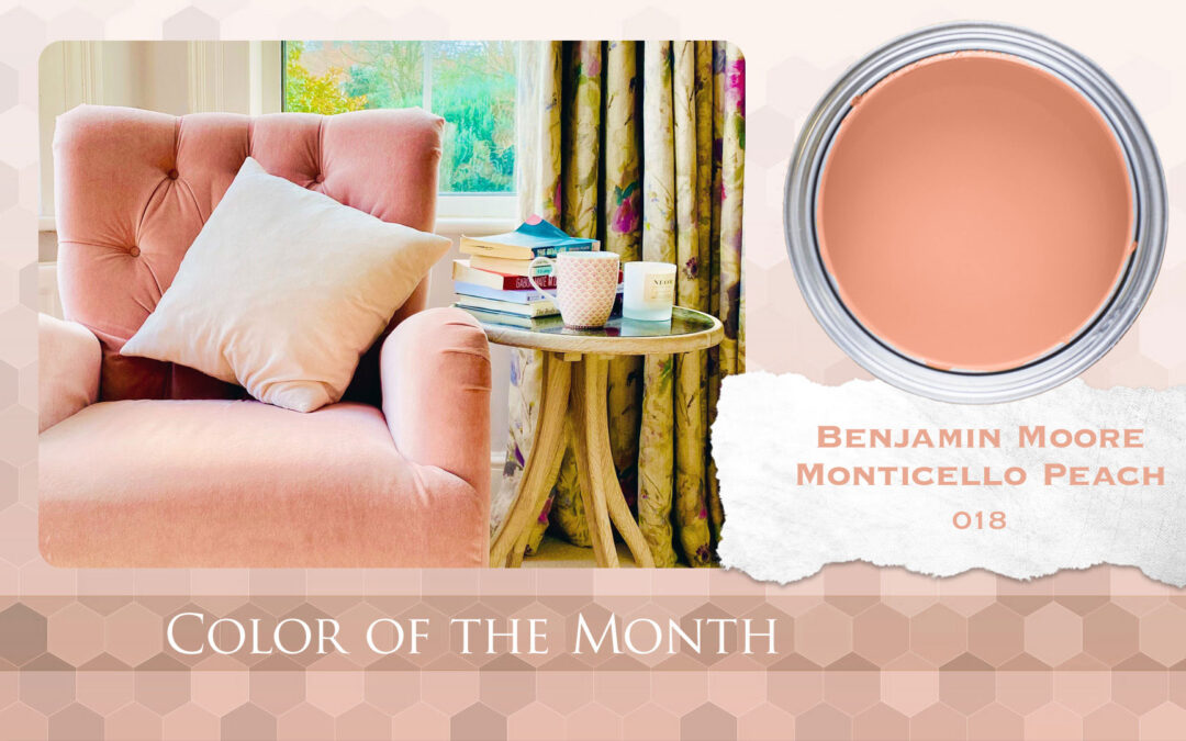 Color of the Month Benjamin Moore Monticello Peach