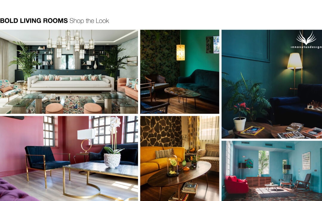 Shop the Look Bold Living Rooms