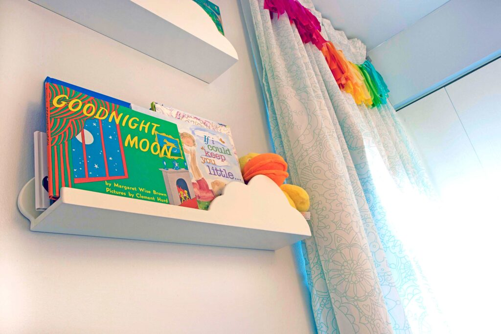 Twin nursery details in Downers Grove IL