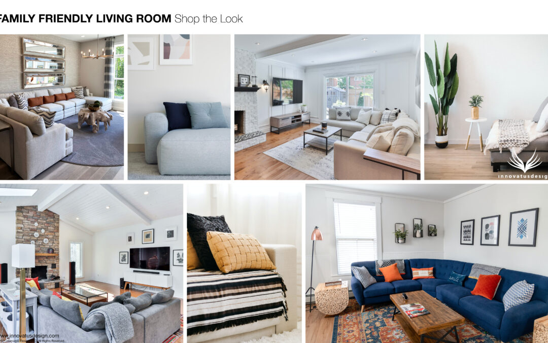 Shop the Look Family Friendly Living Room