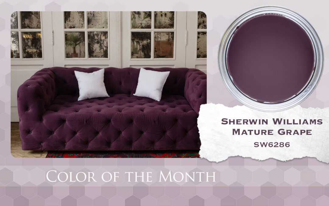 Color of the Month Sherwin Williams Mature Grape