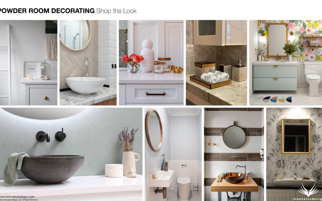 Shop the Look Powder Room Decorating
