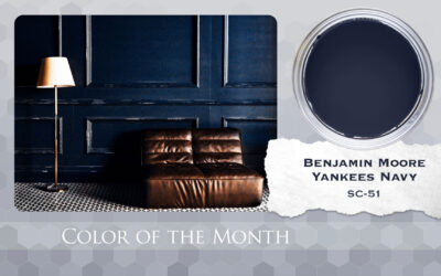 Color of the Month Benjamin Moore Yankees Navy